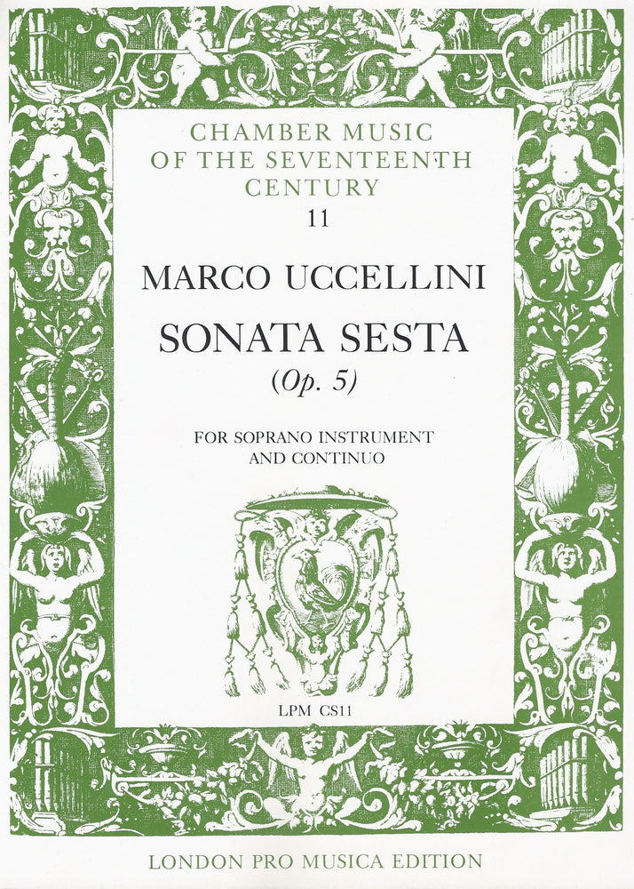 Uccellini: Sonata Sesta Op. 5 for Soprano Instrument and Basso Continuo