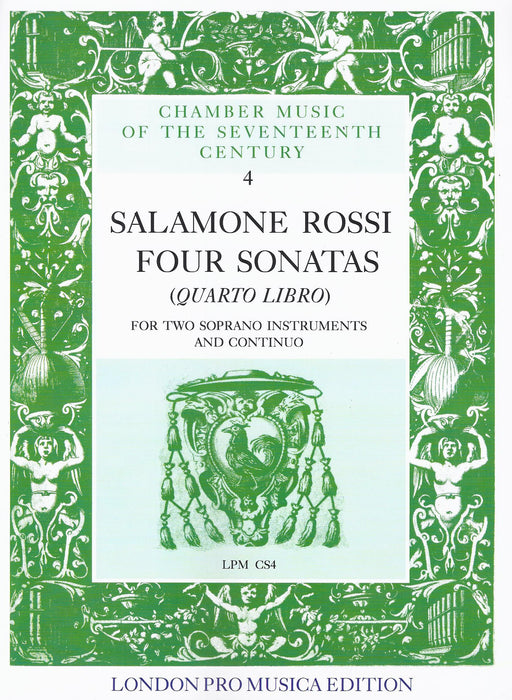 Rossi: 4 Sonatas from Quarto Libro for 2 Soprano Instruments and Basso Continuo