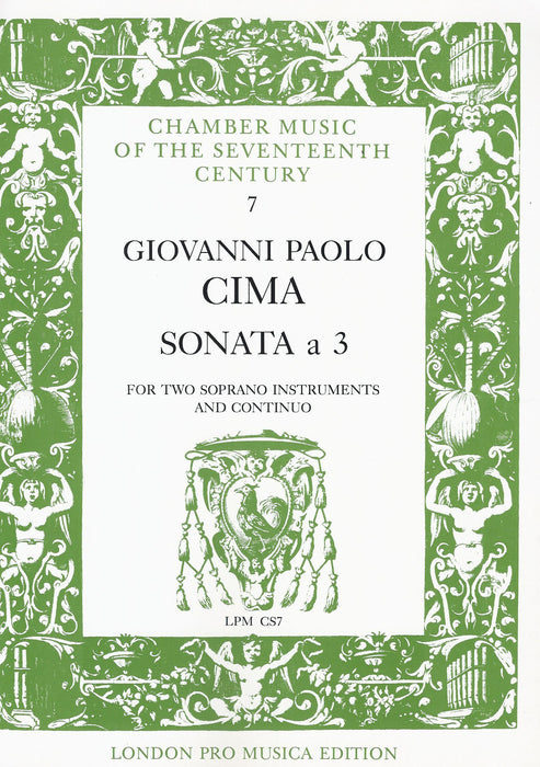 Cima: Sonata à 3 for 2 Soprano Instruments and Basso Continuo