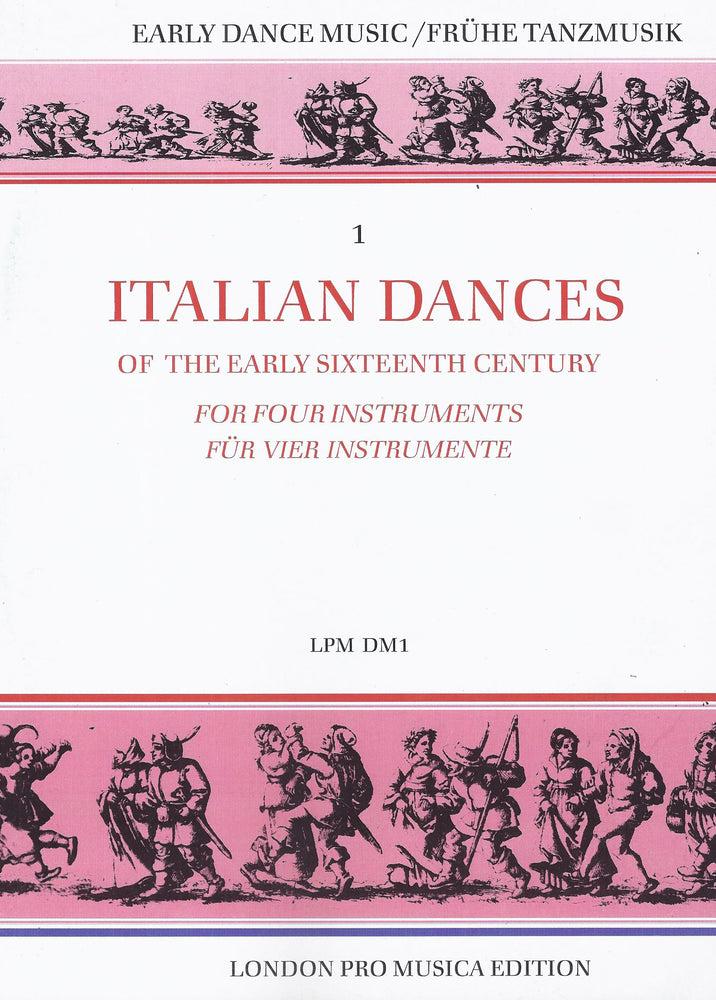 Various: Italian Dances of the Early 16th Century for 4 Instruments