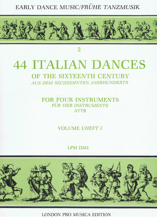 Various: 44 Italian Dances of the 16th Century for 4 Instruments, Vol. 1