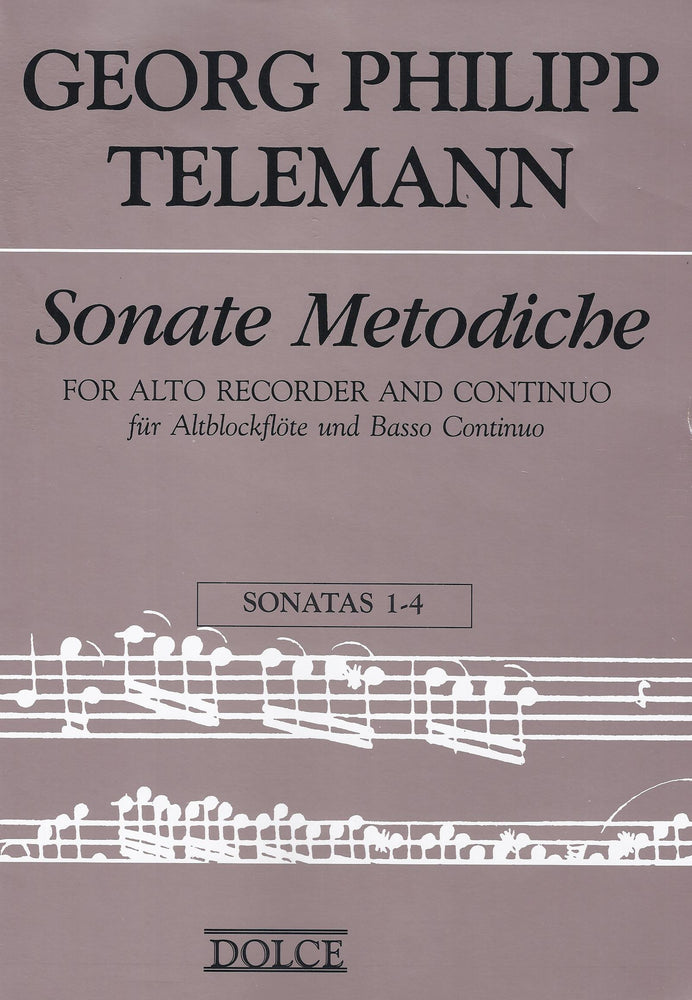 Telemann: Methodical Sonatas for Treble Recorder and Basso Continuo