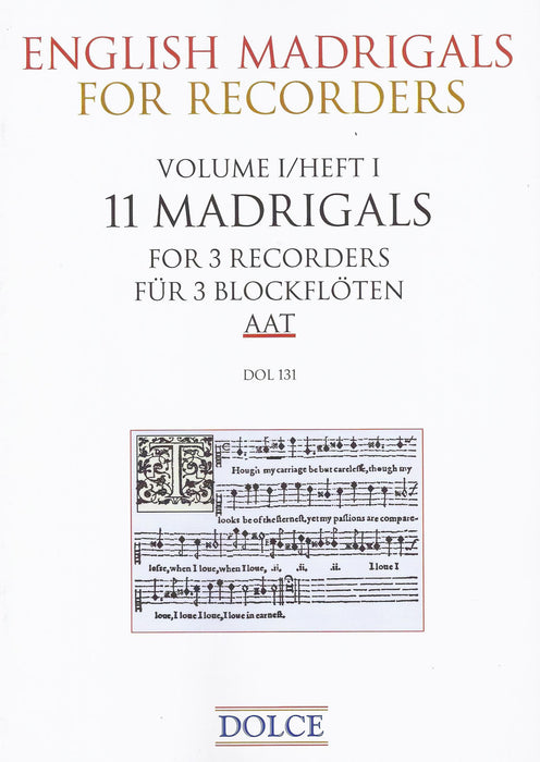 Various: 11 English Madrigals for 3 Recorders