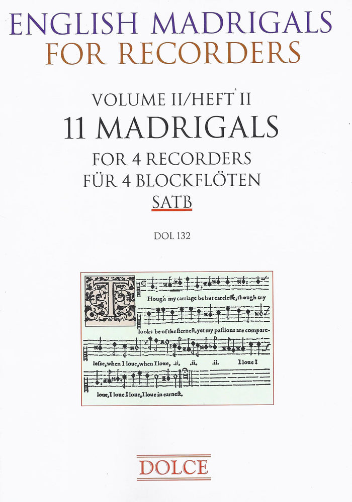 Various: 11 English Madrigals for 4 Recorders