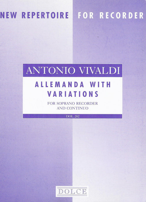 Vivaldi: Allemanda with Variations for Descant Recorder and Basso Continuo