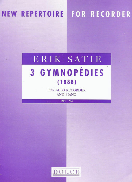 Satie: 3 Gymnopedies for Alto Recorder and Piano