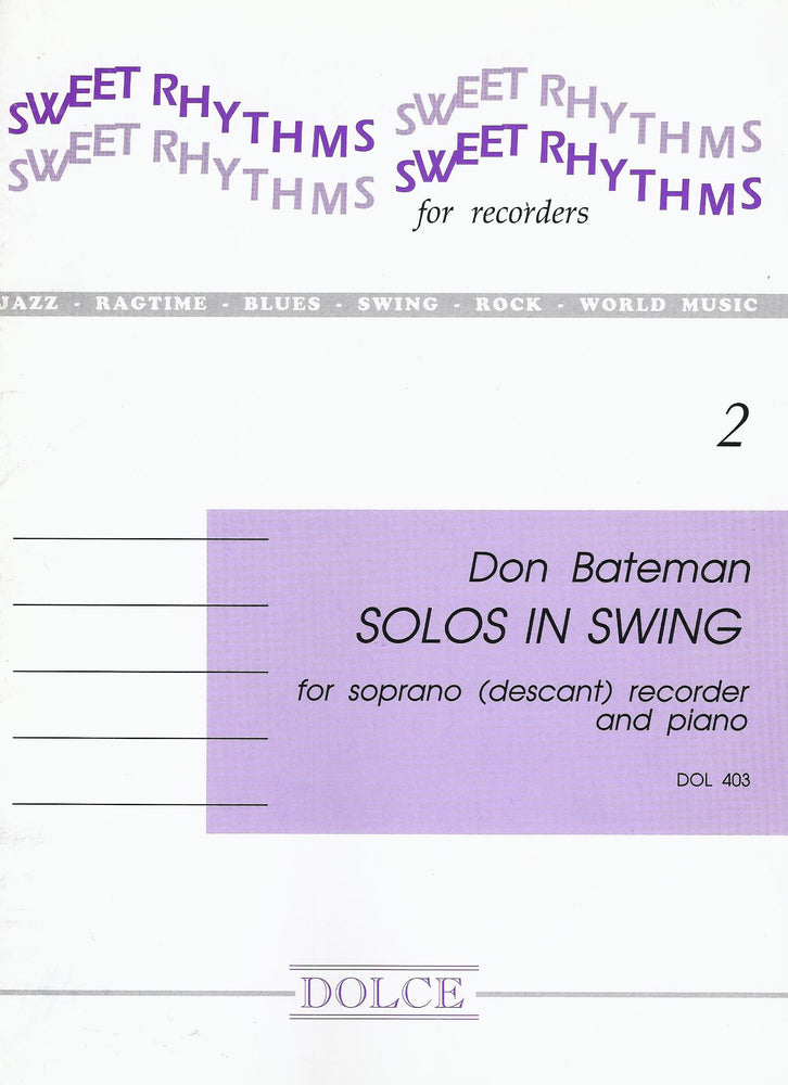 Bateman: Solos in Swing for Descant Recorder and Piano