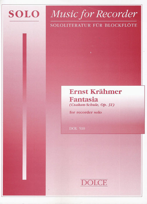 Krahmer: Fantasia Op. 31 for Descant Recorder Solo