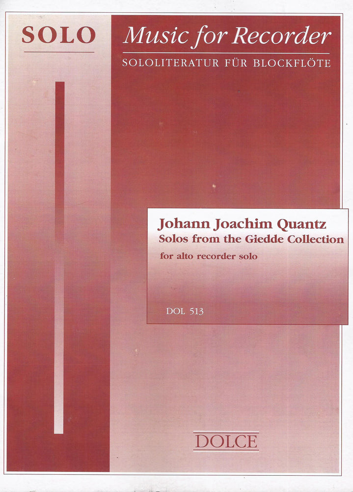 Quantz: Solos from the Giedde Collection for Treble Recorder
