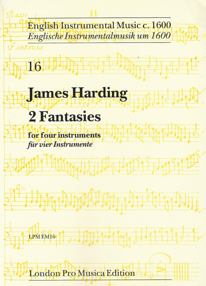 Harding: 2 Fantasies for 4 Instruments