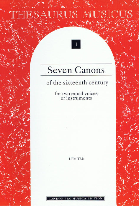 Various: 7 Canons of the 16th Century for two equal voices or instruments