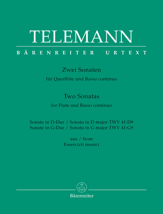 Telemann: 2 Sonatas for Flute and Basso Continuo