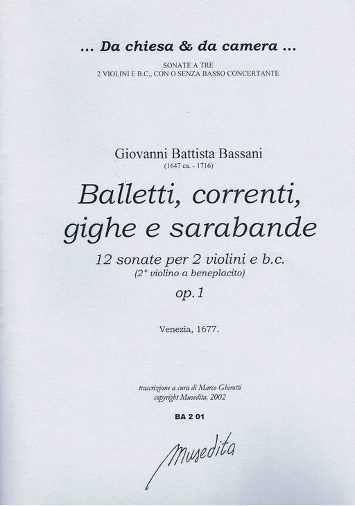 Bassani: 12 Sonatas for 2 Violins and Basso Continuo, Op. 1