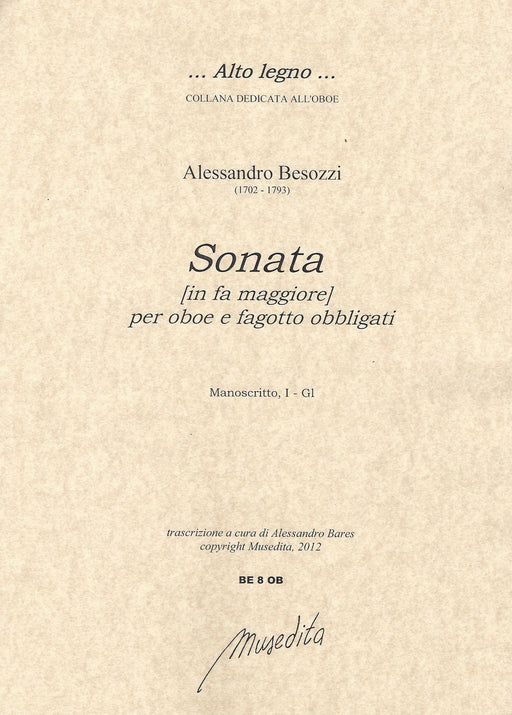 Besozzi: Sonata in F Major for Oboe and Bassoon
