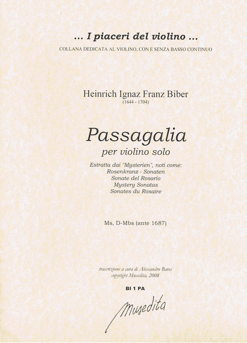 Biber: Passagalia for Violin Solo