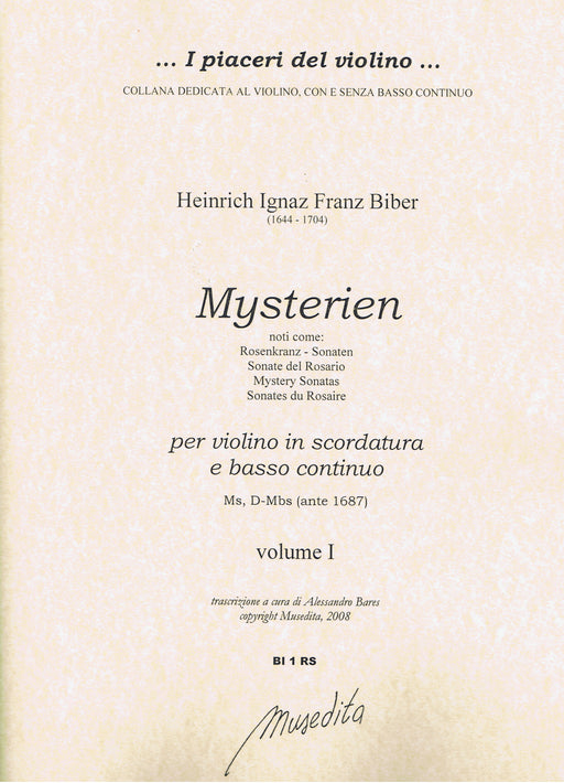 Biber: Mystery Sonatas for Violin (Scordatura) and Basso Continuo