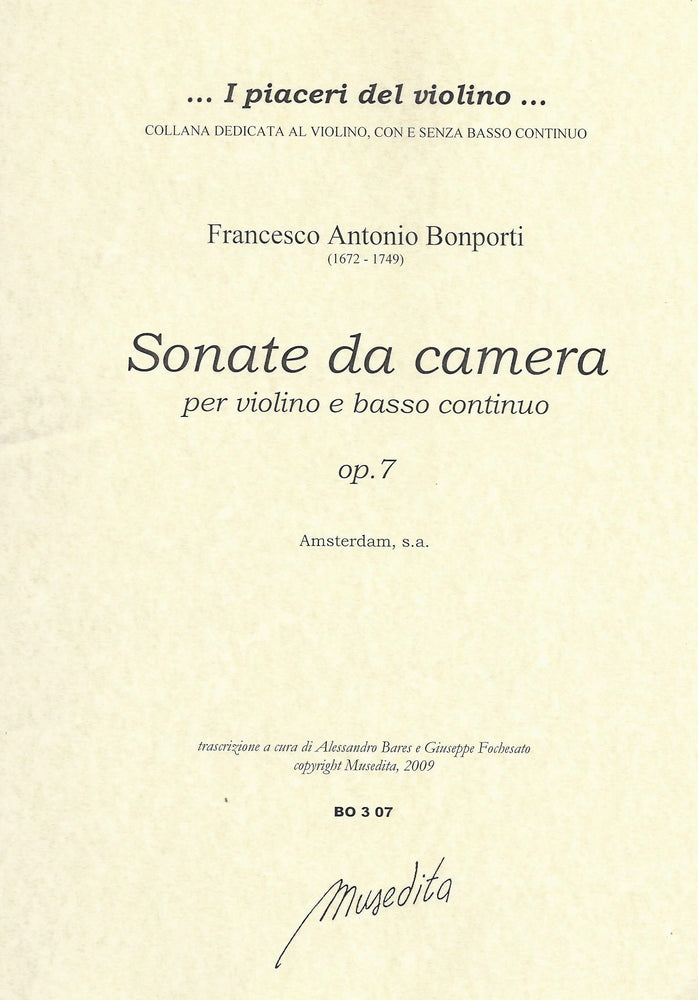 Bonporti: Sonate da Camera for Violin and Basso Continuo, Op. 7