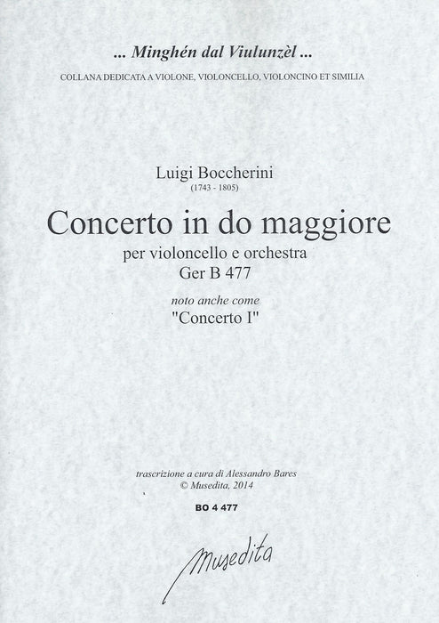 Boccherini: Concerto I in C Major for Violoncello - Piano Reduction