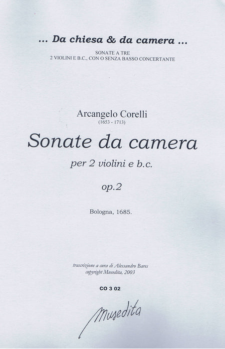 Corelli: Sonatas da Camera for 2 Violins and Basso Continuo, Op. 2