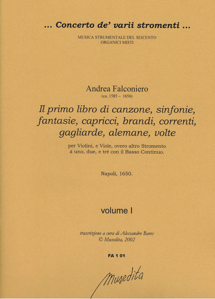 Falconiero: 58 Pieces for 1-3 Instruments and Basso Continuo
