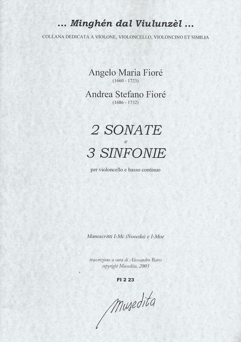 Fioré: 2 Sonatas and 3 Sinfonias for Violonello and Basso Continuo