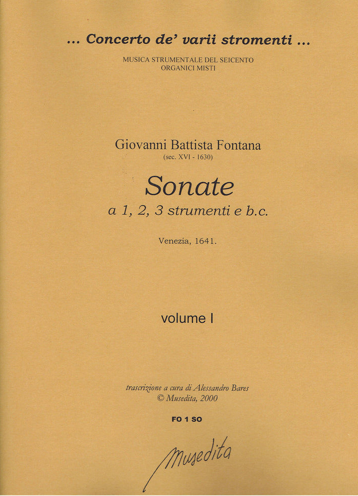 Fontana: Sonatas for 1-3 Instruments and Basso Continuo