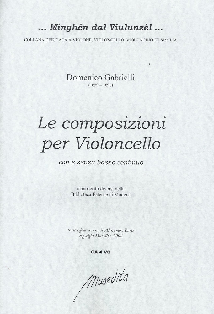 Gabrielli: Compositions for Violoncello