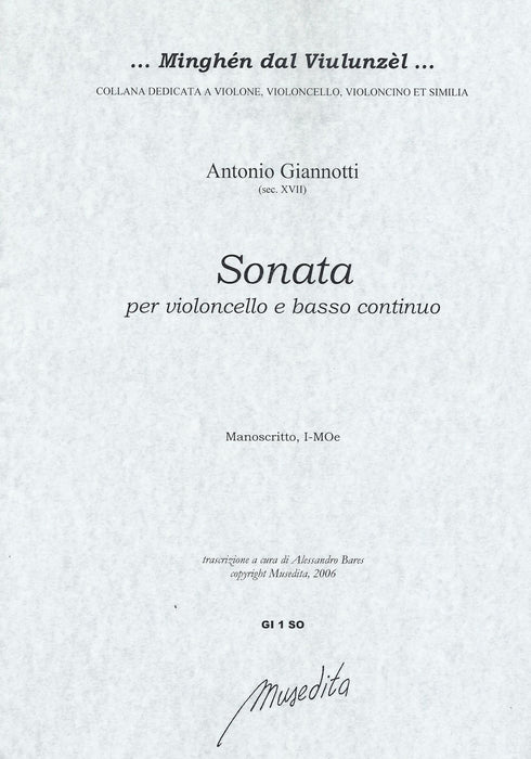 Giannotti: Sonata for Violoncello and Basso Continuo