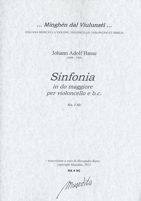 Hasse: Sinfonia in C Major for Violoncello and Basso Continuo