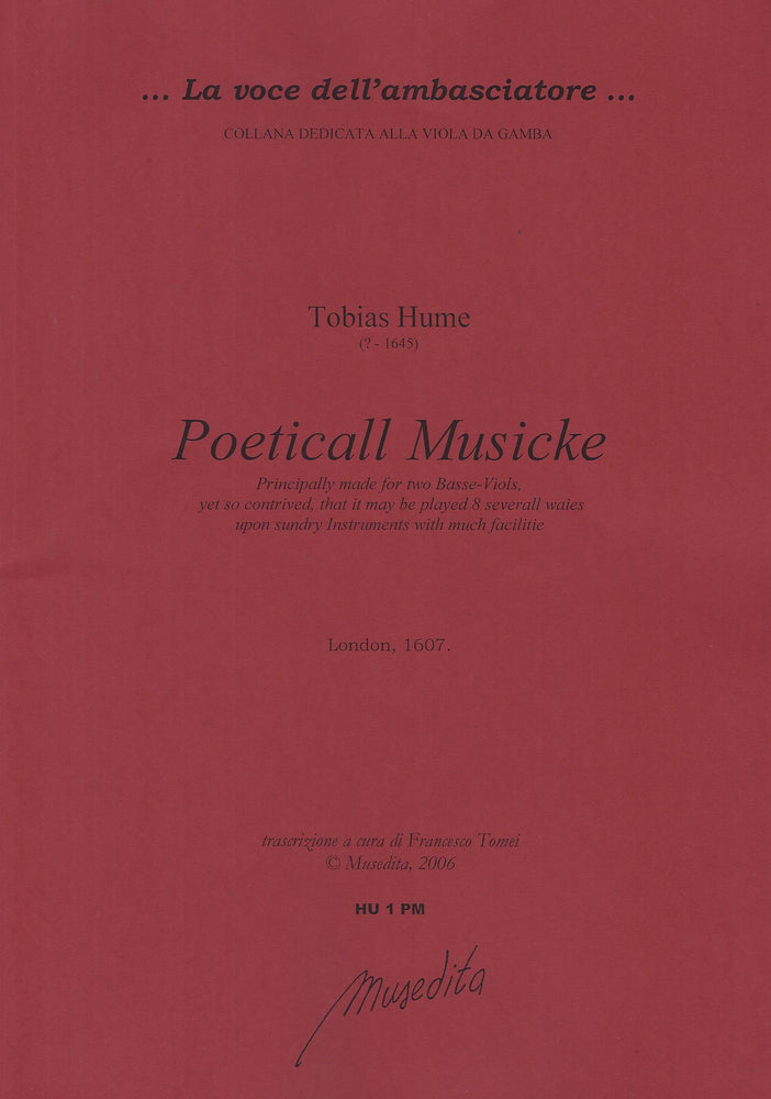 Hume: Poeticall Musicke