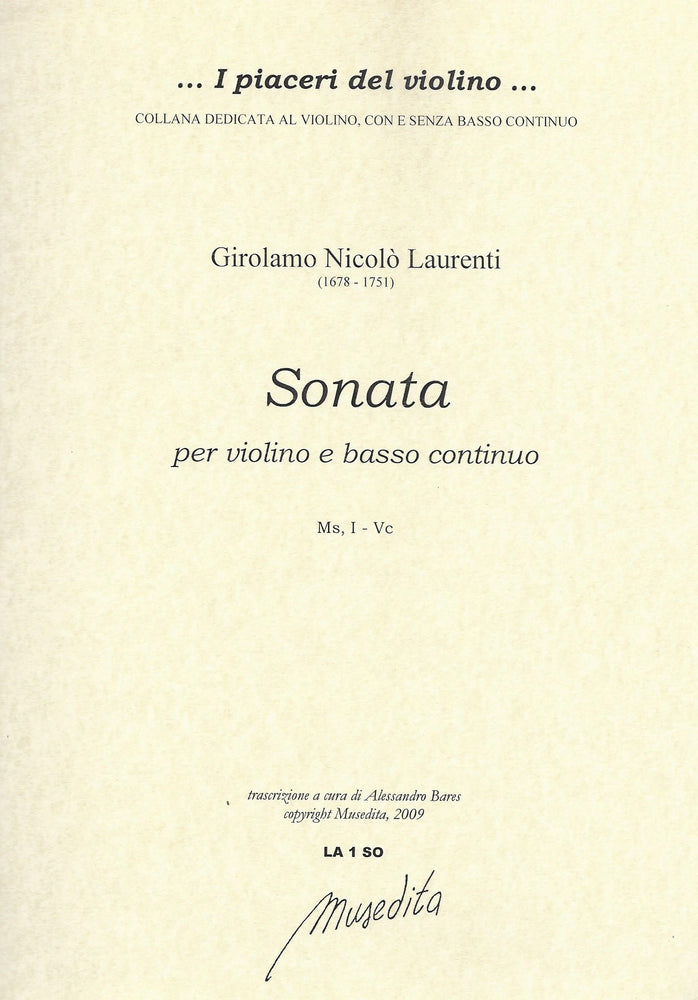 Laurenti: Sonata for Violin and Basso Continuo