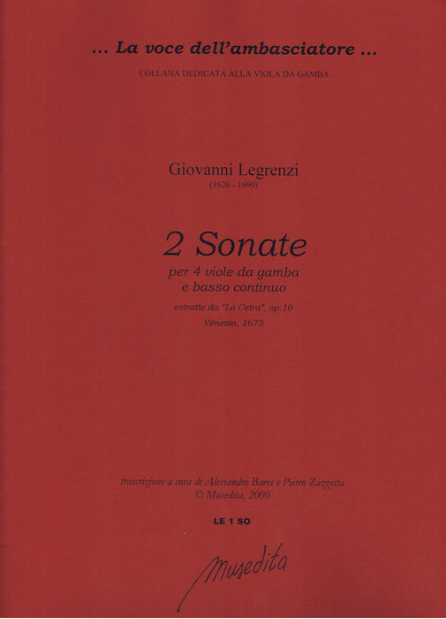 Legrenzi: 2 Sonatas for 4 Viols and Basso Continuo
