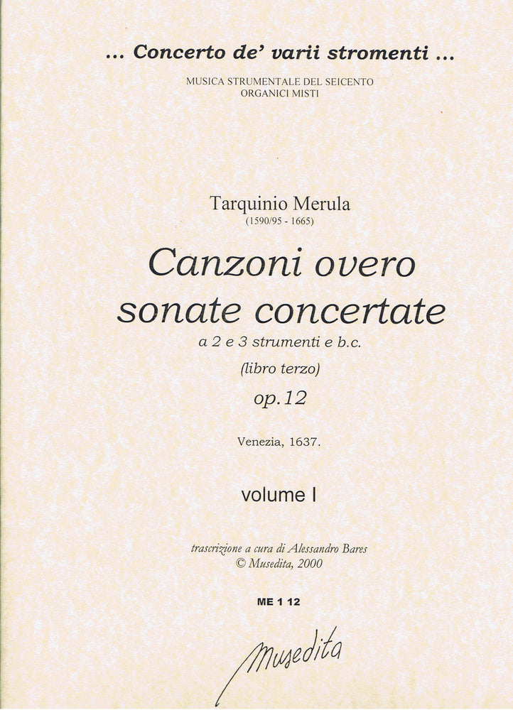 Merula: Canzonas for 2-3 Instruments and Basso Continuo, Op. 12