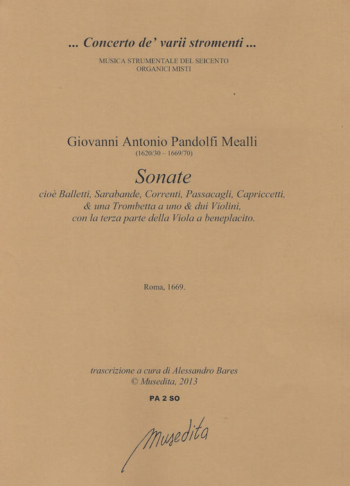 Pandolfi Mealli: Sonatas for 1 or 2 Violins and Basso Continuo (Rome, 1669)