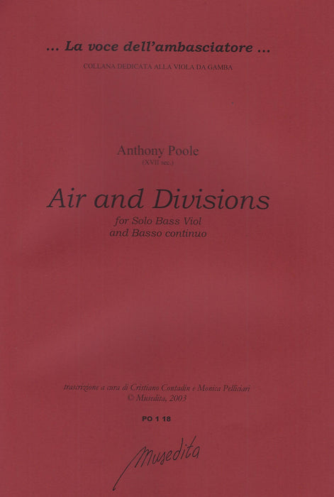Poole: Air and Divisions for Bass Viol and Basso Continuo