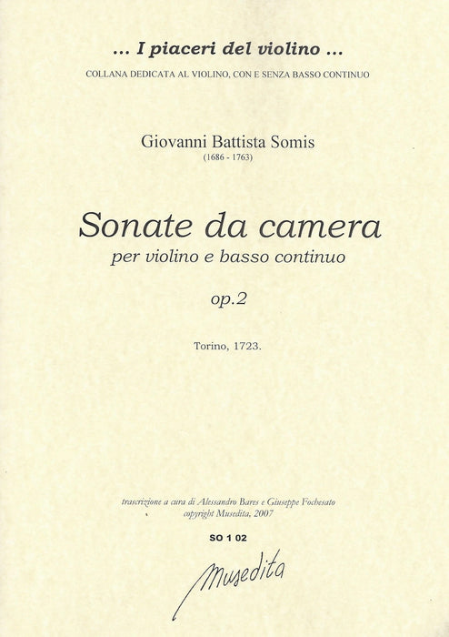 Somis: Sonatas da Camera for Violin and Basso Continuo, Op. 2