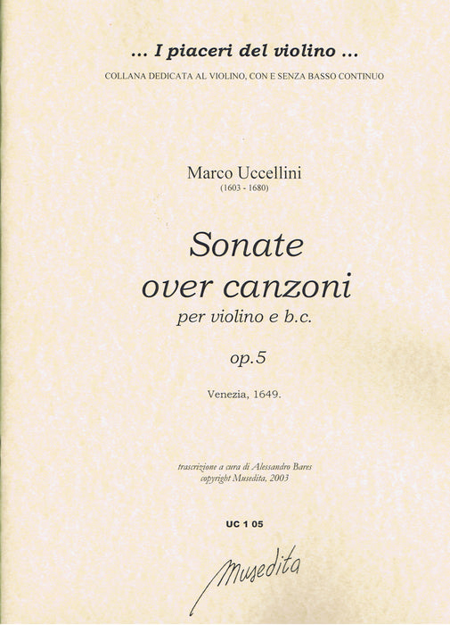 Uccellini: Sonate Over Canzoni for Violin and Basso Continuo, Op. 5