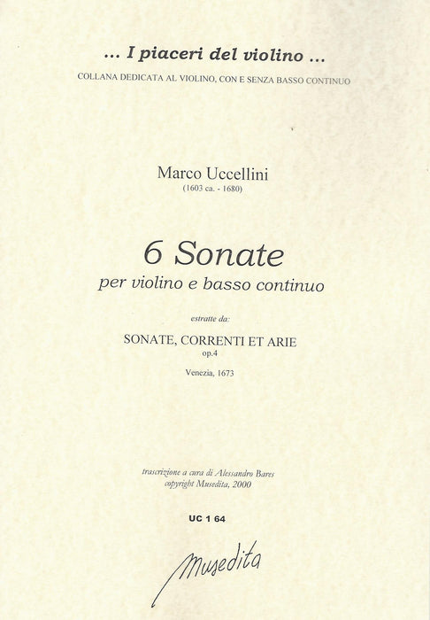 Uccellini: 6 Sonatas for Violin and Basso Continuo, Op. 4