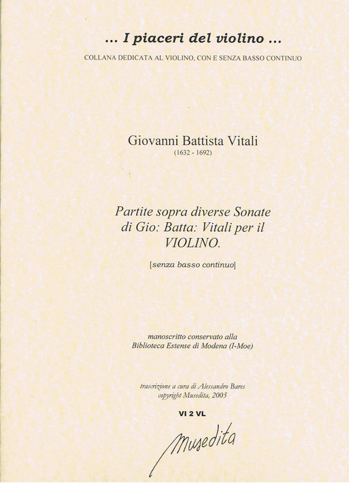 Vitali: Partite Sopra Diverse Sonate for Violin Solo