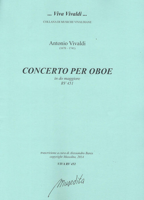 Vivaldi: Concerto in C Major RV 451 for Oboe, Strings and Basso Continuo