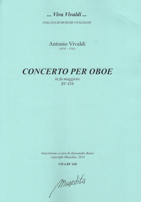 Vivaldi: Concerto in F Major RV 458 for Oboe, Strings and Basso Continuo