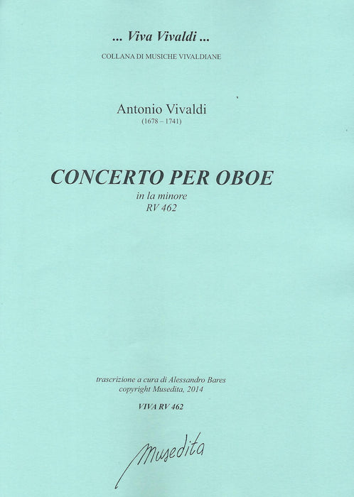 Vivaldi: Concerto in A Minor RV 462 for Oboe, Strings and Basso Continuo