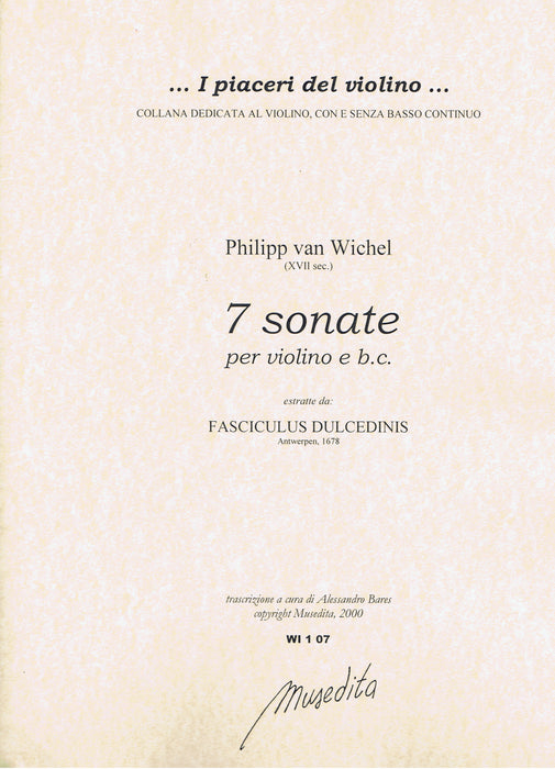van Wichel: 7 Sonatas for Violin and Basso Continuo