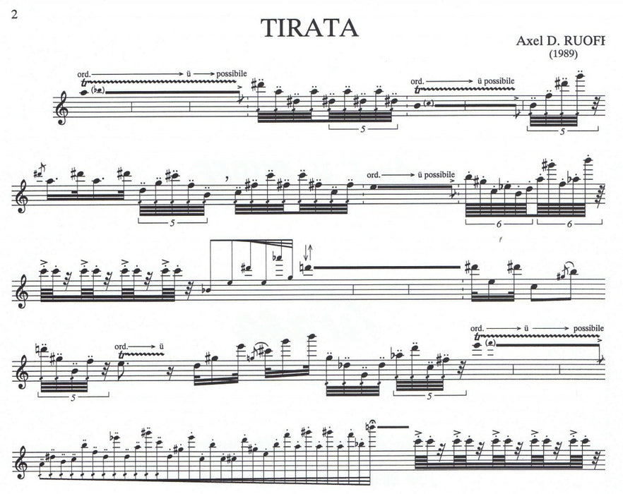 Ruoff: Tirata for Alto Recorder solo