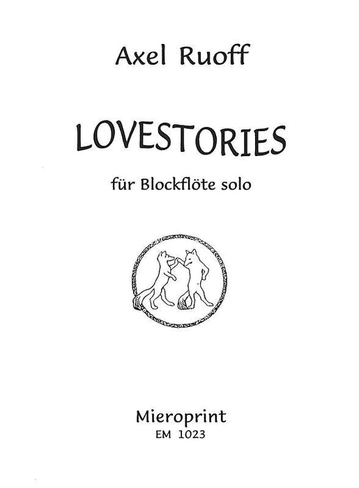 Ruoff: Lovestories for Recorder solo