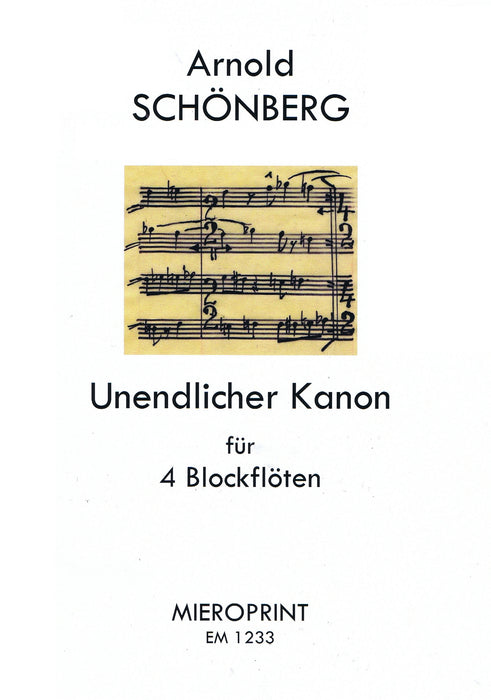 Schoenberg: Unending Canon for 4 Recorders