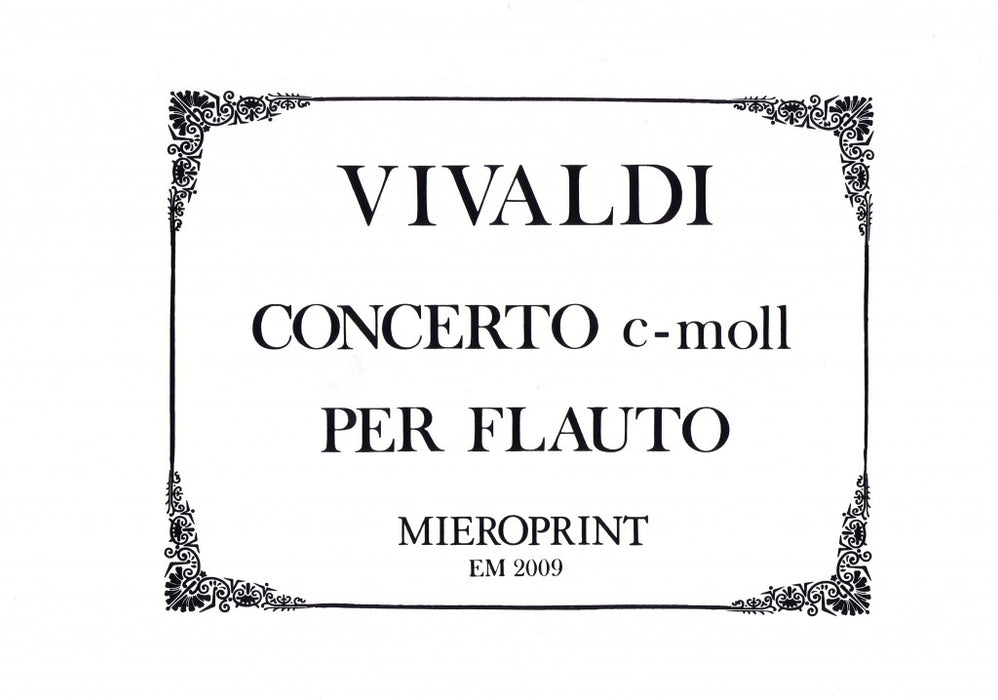 Vivaldi: Concerto in C Minor for Recorder and Orchestra