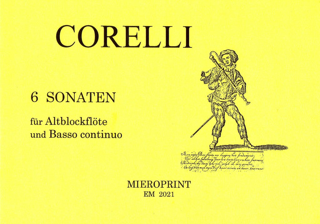 Corelli: Six Solos for a Flute and a Bass