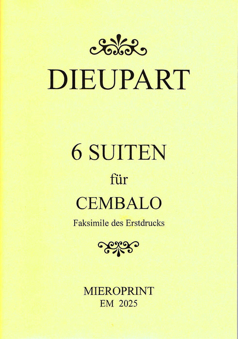Dieupart: Six Suites for Harpsichord
