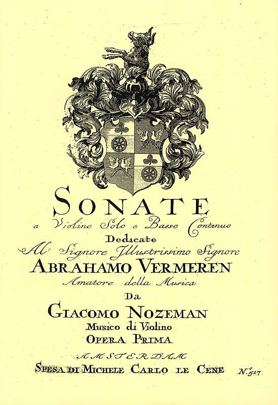 Nozeman: Sonatas for Violin and Basso Continuo, Op. 1